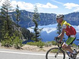 Cycling at Crater Lake